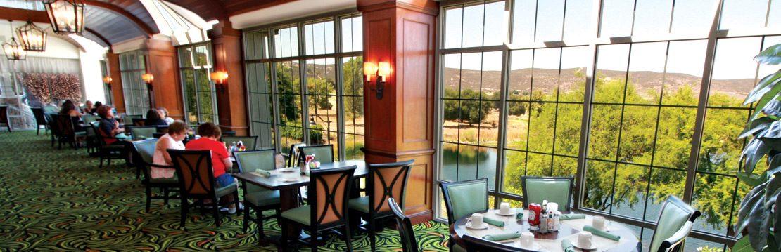 Interior dining section at Sage Cafe at Barona Resort & Casino
