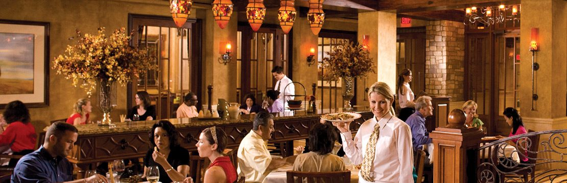Interior of dining area at Italian Cucina at Barona Resort & Casino